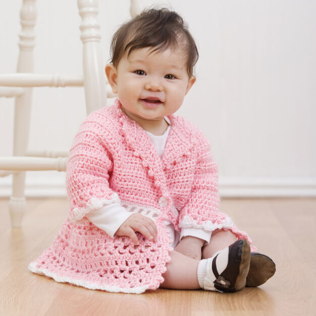 Red Heart Crochet Victorian Jacket, 6 mos in color