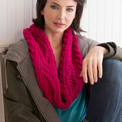 Red Heart Three Crosses Cowl