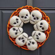 Red Heart Circle of Skulls Wreath