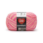 Go to Product: Red Heart Comfort Yarn in color Pinks Print
