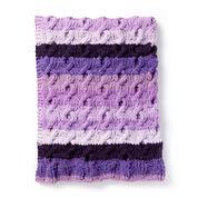 Bernat Fading Cables Knit Blanket