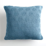 Bernat Mossy Dots Knit Pillow