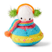 Red Heart Flying Saucer Knit Snowman