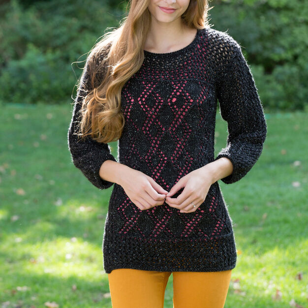 Red Heart Date-Night Knit Tunic, S