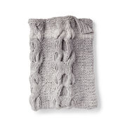 Bernat Hugs and Kisses Cable Knit Baby Blanket