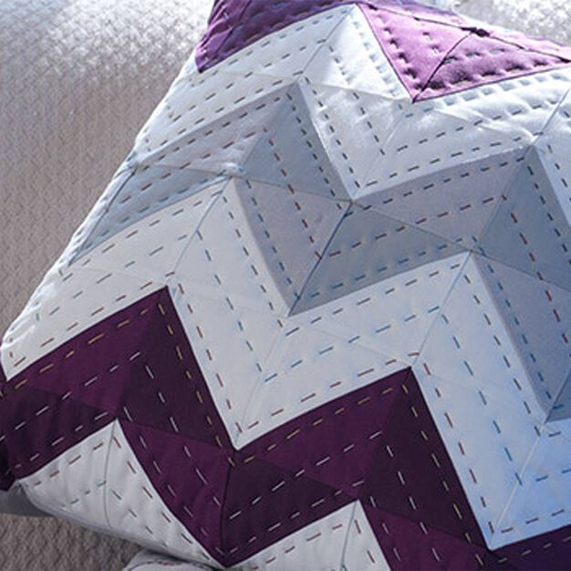 Coats & Clark Chevron Pillow in color