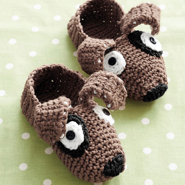 Phentex Puppy Slippers, Size 5-6