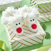 Red Heart Happy Kids Reindeer Slippers, Child