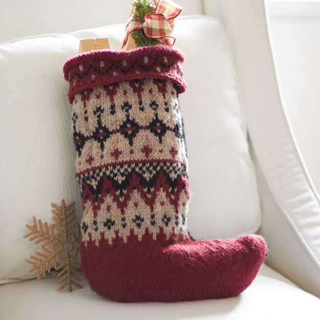 Patons Fair Isle Stocking in color