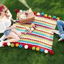 Caron Cheerful Ripple Knit Blanket