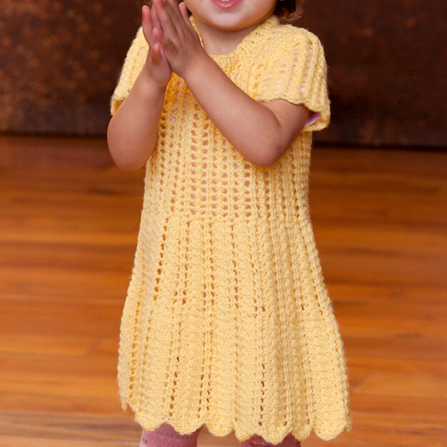Red Heart Happy Day Dress, 6 mos in color