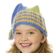 Go to Product: Caron Knit Tripod Hat, Blue/Green/Peach - 12-18 mos in color