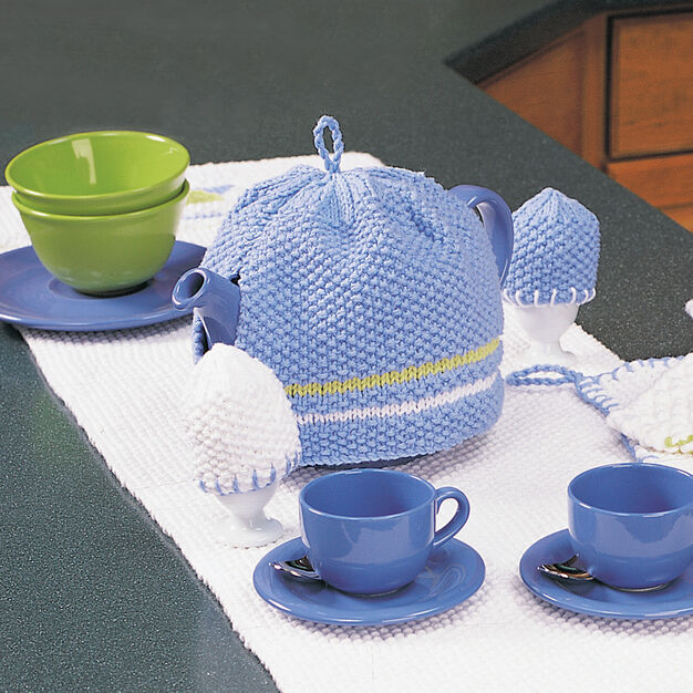 Lily Sugar'n Cream Tea Cozy and Egg Cozy in color