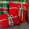 Red Heart Plaid Christmas Blanket in color  Thumbnail Main Image 8}