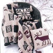 Patons Northern Motifs Afghan & Pillow, Afghan