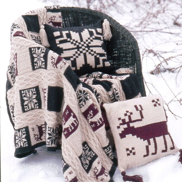 Patons Northern Motifs Afghan & Pillow, Afghan