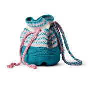 Lily Sugar'n Cream Woven Look Knit Bucket Bag