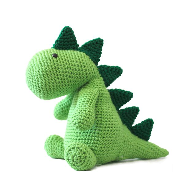 Red Heart Squish-A-Saurus Crochet Dino in color