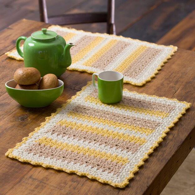 Red Heart Cornmeal Mats in color