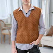Go to Product: Red Heart Men's Basketweave Vest, S in color