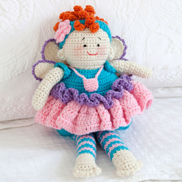Red Heart Tooth Fairy Doll in color
