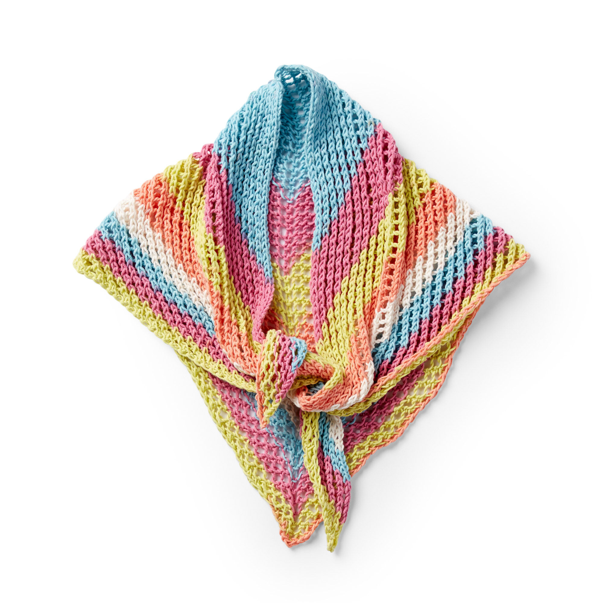 Caron Triangular Knit Shawl Pattern | Yarnspirations