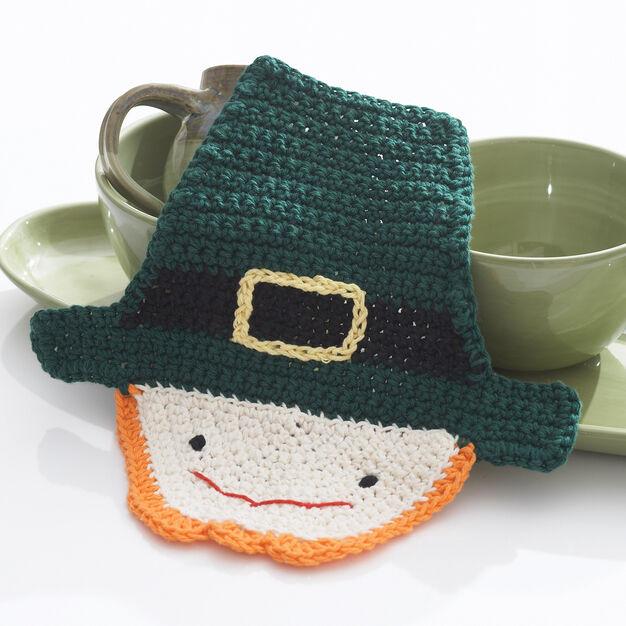 Lily Sugar'n Cream Crochet Leprechaun Dishcloth in color