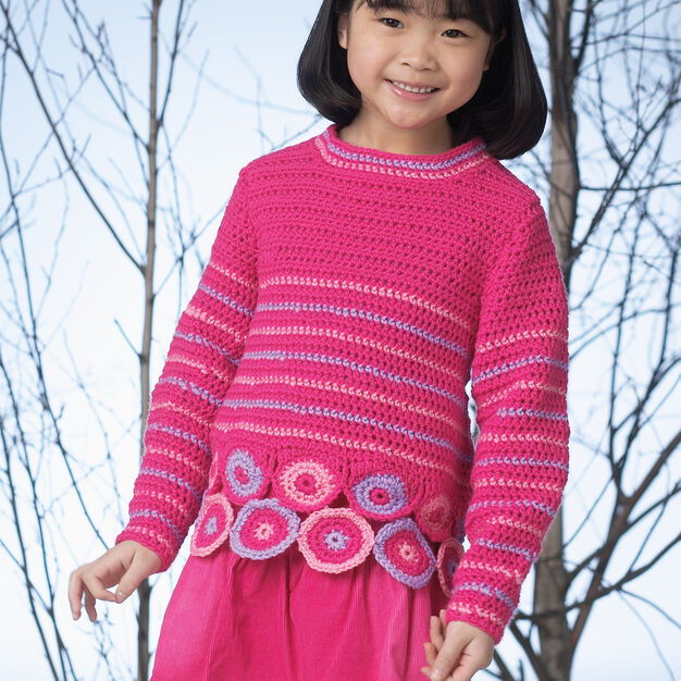 Patons Medallion Tunic, 4 yrs in color