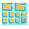 Bernat Mitered Granny Square Throw in color  Thumbnail Main Image 2}