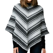 Caron Fade to Grey Knit Poncho, XS/S/M