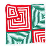Bernat Mitered Christmas Blanket