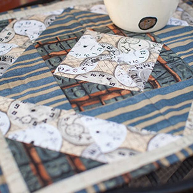 Coats & Clark Patchwork Table Topper in color