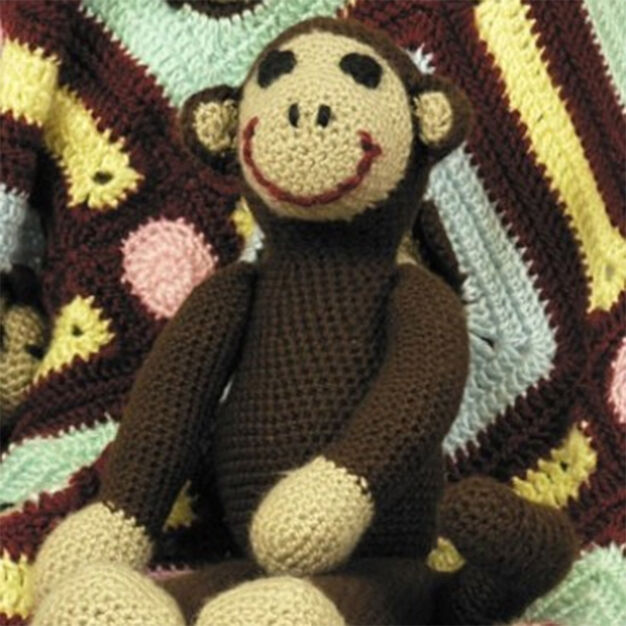 Caron Monkey Toy in color