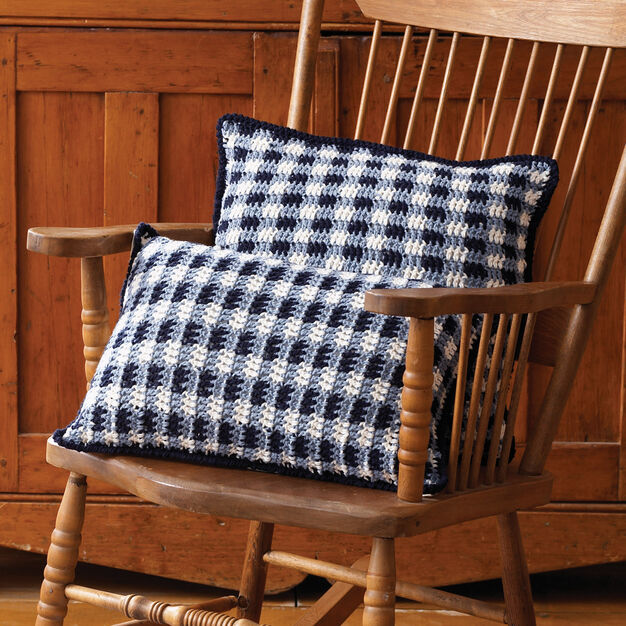 Lily Sugar'n Cream Gingham Pillows, Square - Red
