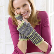 Red Heart Winter Crochet Wristers, S/M
