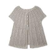 Patons Crochet Cap Sleeve Cardigan, XS/S