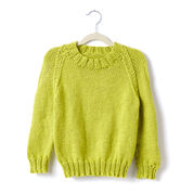 Caron Adult Knit Crew Neck Pullover, XS/S