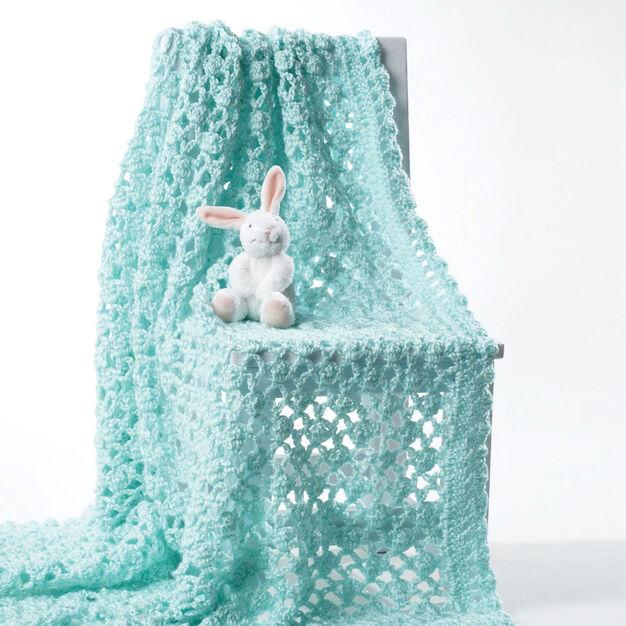 Bernat Crochet Baby Blanket, White