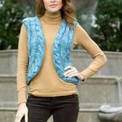 Red Heart Knit Cabled Vest, S