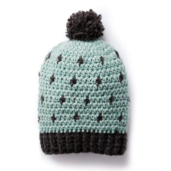 Free Pattern: Cozy Crochet Hat in Bernat Roving yarn