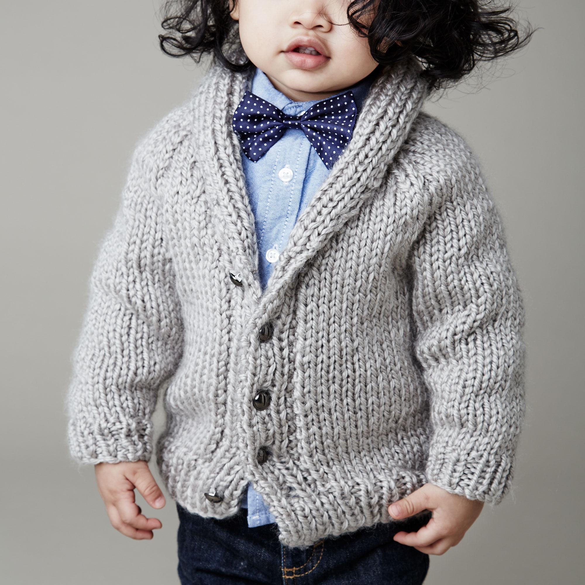 Bernat Shawl Collar Cardigan, 6 months | Yarnspirations