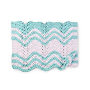 Bernat Garter Ripple Stripes Knit Baby Blanket