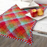 """Red Heart Planned Pooling Argyle Table Runner, 18"""" x 60"""" in color"""