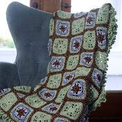 Red Heart Crochet Little Windows Granny Throw