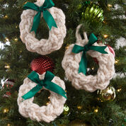Red Heart Wreath Ornaments