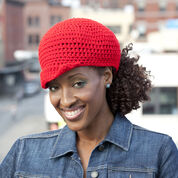 Red Heart Ponytail Hat, S/M