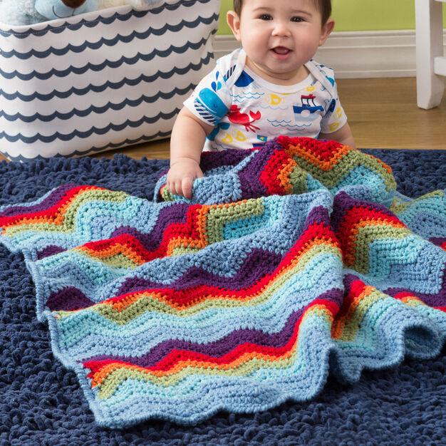 Red Heart Zig-Zag Baby Blanket | Yarnspirations