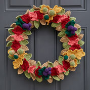 Red Heart Fabulous Fall Wreath
