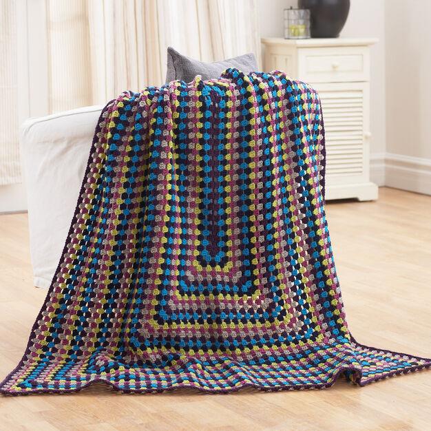 Bernat Granny Blanket in color