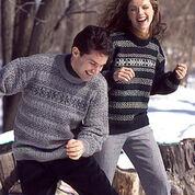 Patons Simple Pleasures, Classic Wool Green & Grey - S